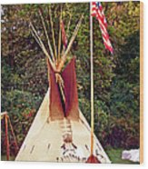 Teepee Wood Print by Marty Koch