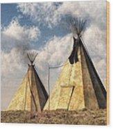Teepees Wood Print by Daniel Eskridge