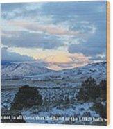 Tehachapi Valley With Job Quote Wood Print