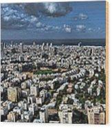 Tel Aviv Center Wood Print by Ron Shoshani