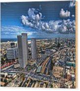 Tel Aviv Center Skyline Wood Print