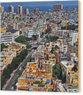 Tel Aviv Eagle Eye View Wood Print