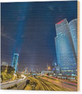 Tel Aviv Nights Wood Print