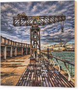 Tel Aviv Port At Winter Time Wood Print