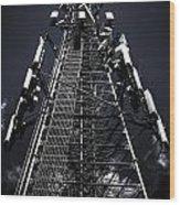 Telecommunications Tower Wood Print