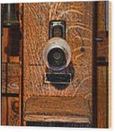 Telephone - Antique Wall Telephone Wood Print