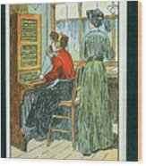 Telephone Exchange Wood Print