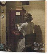 Telephone Operator Wood Print