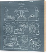 Telephone Patent Wood Print