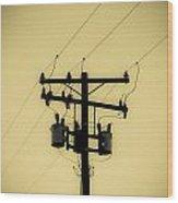 Telephone Pole 1 Wood Print
