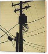 Telephone Pole 2 Wood Print