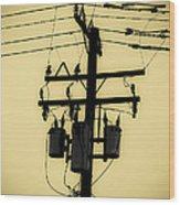 Telephone Pole 3 Wood Print