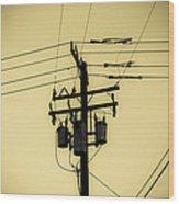 Telephone Pole 4 Wood Print