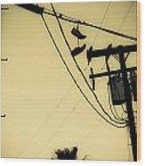 Telephone Pole 8 Wood Print