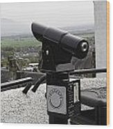 Telescope Near The Entrance Of Stirling Castle Wood Print