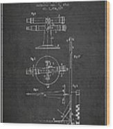 Telescope Telemeter Patent From 1916 - Charcoal Wood Print