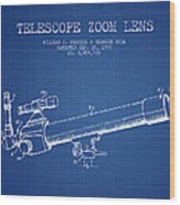 Telescope Zoom Lens Patent From 1999 - Blueprint Wood Print