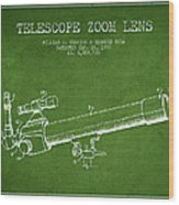 Telescope Zoom Lens Patent From 1999 - Green Wood Print