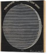 Telescopic View Of The New Moon Wood Print