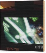 Television And Light  Wood Print