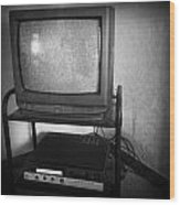 Television And Recorder Wood Print