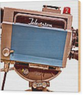 Television Studio Camera Hdr Wood Print by Edward Fielding