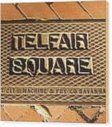 Telfair Square In Savannah Wood Print