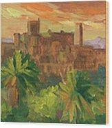 Telouet Kasbah Wood Print