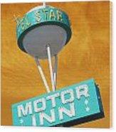Telstar Motor Inn - Orange Wood Print