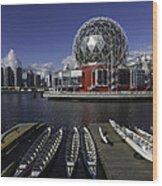 Telus World Boats Wood Print