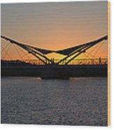 Tempe Bridge Sunset Wood Print