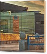 Tempe Center For The Arts Sunset Wood Print