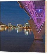 Tempe Light Rail Bridge Wood Print