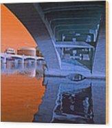 Tempe Town Lake Bridges Wood Print