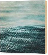 Tempest Ocean Landscape In Shades Of Teal Wood Print