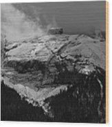Tempest On Teapot Mountain Wood Print