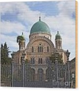 Tempio Maggiore  The Great Synagogue Of Florence Wood Print
