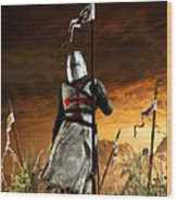 Templar Wood Print