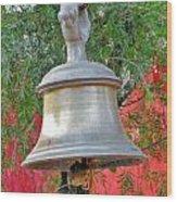 Beautiful Temple Bell At Vishwanath - Himalayas India Wood Print