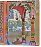 Colorful Temple Entrance - Omkareshwar India Wood Print