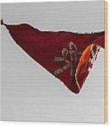 Temple Flag Wood Print