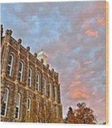 Temple High Wood Print