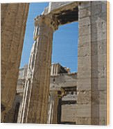 Temple Maze Of Columns Wood Print