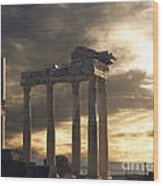 Temple Of Apollo In Side Wood Print