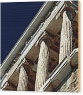 Temple Of Athena Nike Columns Wood Print