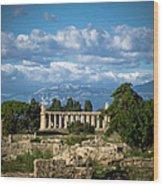 Temple Of Athena Wood Print