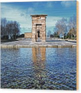 Temple Of Debod Wood Print