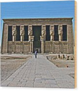 Temple Of Hathor Near Dendera-egypt Wood Print by Ruth Hager