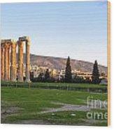 Temple Of Olympian Zeus. Athens Wood Print