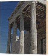 Temple Of The Athena Nike Wood Print